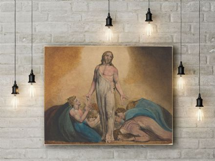William Blake: Christ Appearing to His Disciples After the Resurrection. Religious Fine Art Canvas.